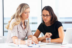 Two Businesswomen Meeting In Office royalty free stock photo