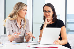 Two Businesswomen Meeting In Office Royalty Free Stock Photos