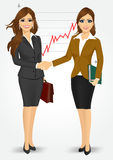 Two businesswomen shaking hands Royalty Free Stock Photo