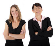Two businesswomen smiling Royalty Free Stock Photos