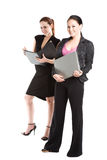 Two businesswomen working Royalty Free Stock Photo