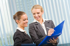 Two businesswomen working Stock Photos