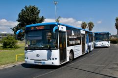 Two busses - Limassol. Cyprus Stock Image
