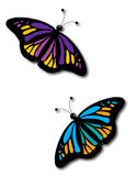 Two Butterflies Stock Photos