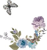 Two butterflies and flowers Royalty Free Stock Photography