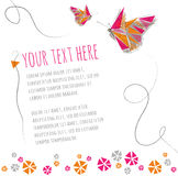 Two butterflies flying around text Royalty Free Stock Photo