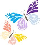 Two Butterflies Royalty Free Stock Images