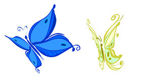 Two butterfly Royalty Free Stock Photography