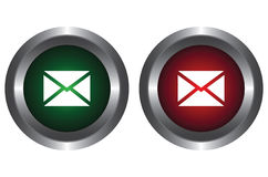 Two buttons with the letter Royalty Free Stock Images