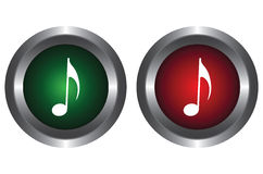 Two buttons with notes Royalty Free Stock Images