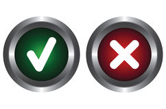Two buttons with symbols Royalty Free Stock Images