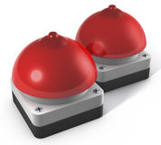 Two buzzers breast shaped Royalty Free Stock Photos