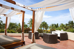 Two Cabanas in the Tropics Stock Photo