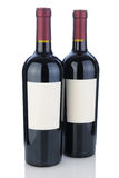 Two Cabernet Bottles with Blank Labels Royalty Free Stock Photos