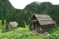 Two Cabins in Mountains Royalty Free Stock Image