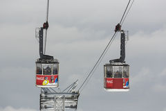 Two Cable Cars Royalty Free Stock Image