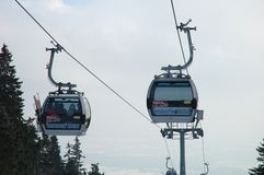 Two cable cars Royalty Free Stock Photos