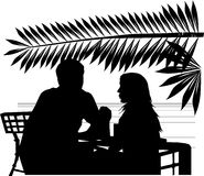 Two in caffe on a beach Royalty Free Stock Photos