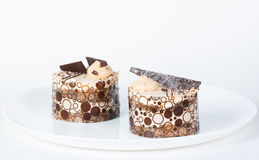 Two cake on a plate Royalty Free Stock Photography
