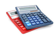 Two Calculators Royalty Free Stock Photo