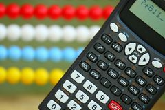 Two calculators Stock Photos