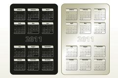 Two calendar designs for 2011 (sun-sat) Royalty Free Stock Photography