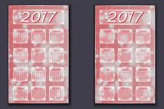 Two calendars with abstract bokeh background in 2017 year Stock Photo