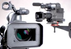 Two camcorders Stock Image