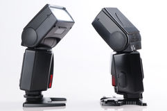 Two camera flash against each other Stock Photography