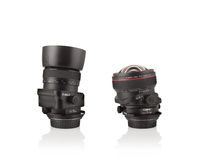 Two camera lenses Royalty Free Stock Photos