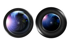 Two Camera Lenses Stock Images