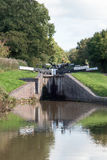 Two Canal Locks Stock Images