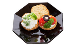 Two canapes Stock Image