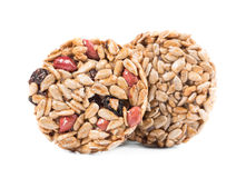 Two candied roasted peanuts sunflower seeds. Stock Photos