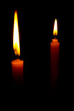 The two Candle. The Candle in the dark royalty free stock photos
