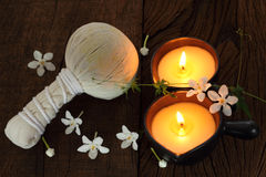 Two candle for  massage. Stock Photos