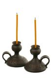 Two candles Royalty Free Stock Photos