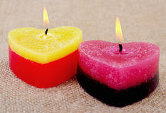 Two candles. Stock Image