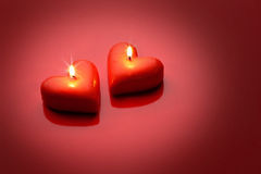 Two candles Royalty Free Stock Images