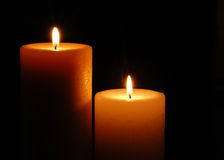 Two Candles Stock Photo