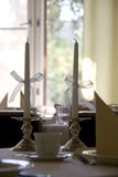 Two candles Stock Images