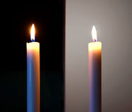 Two candles Stock Photos