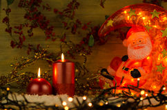Two candles Christmas decoration Royalty Free Stock Image