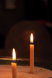 Two candles in church Royalty Free Stock Photo