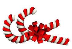 Two Candy cane on white background Royalty Free Stock Photography