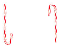 Two candy canes Stock Images