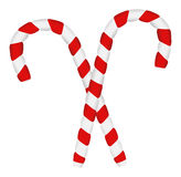 Two Candy Canes - Christmas Vector Illustration Stock Photography