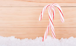 Two Candy Canes Royalty Free Stock Photography