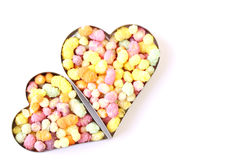 Two candy hearts. Isolated on a white background Stock Photography