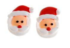 Two Candy Santa Faces Royalty Free Stock Photo